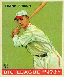 Frankie Frisch, the Fordham Flash, Member of the Baseball Hall Of Fame
